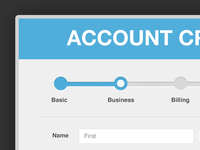 Account Creation Modal and Pagination