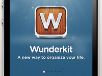 Wunderkit iPhone App - Splash Screen