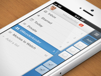 Wunderlist 2 - iPhone Sidebar