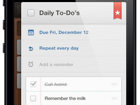 Wunderlist 2 for iPhone - Detail View