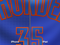 (Detail) Oklahoma City Thunder Christmas Day Jersey