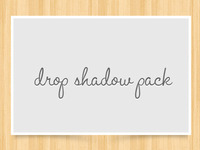 Drop Shadow Pack (freebie)