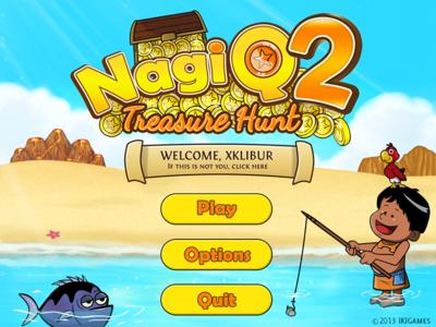 NagiQ 2's main menu