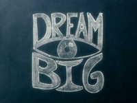 Dream Big Chalkboard Lettering