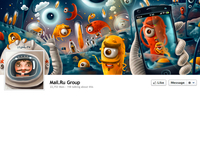 Mail.ru Facebook Cover Full