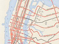 Colouring - Planned Subway Expansion, NYC, 1920