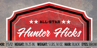 Introducing All-Star Hunter Hicks