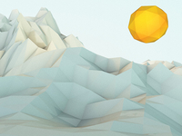 Basic Low-poly Mountains