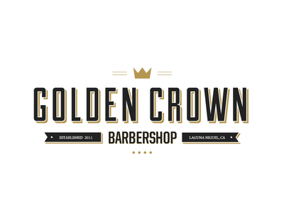 Golden Crown Barbershop logo