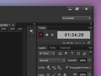 Photoshop job timer