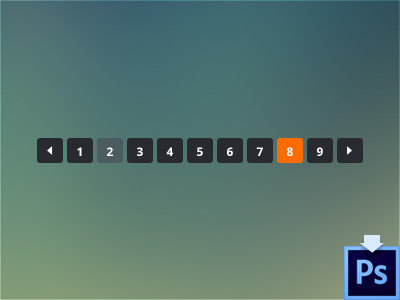 Download Minimal Pagination PSD