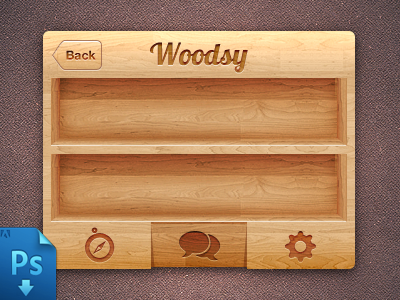 Download iPhone Wood UI (PSD Freebie)