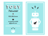 Business card for a cat-loving roboticist