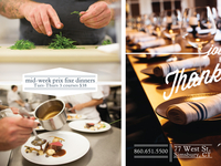 Print ad for restaurant