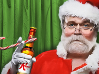 Drunk Santa - Rainier Beer