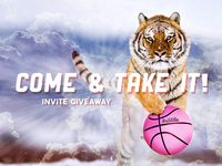 Dribbble Tiger - Invite Giveaway!