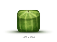 PSD - Watermelon Icon 1600x1600