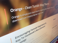 Orange PSD Theme is Tumblr Theme right now!