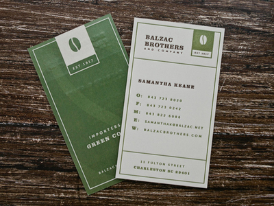 Balzac Brothers and Co Business Cards
