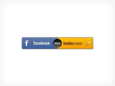 Login with Facebook or Indapass button
