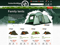 Outdoor World Direct e-commerce site redesign