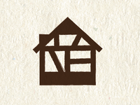 half-timber restaurant icon