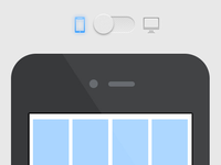 Responsive design switch display (animated)