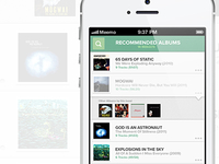 Meemo Music Recommender iPhone