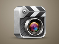 Icon for video recording and editing application