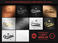 Photorealistic Logo Mock Up Collection