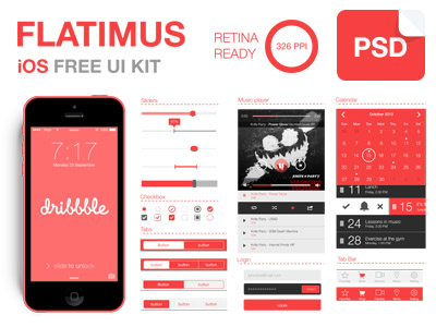 Download Flatimus iOS Free UI Kit