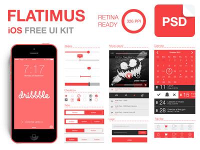 Download Flatimus iOS Free UI Kit