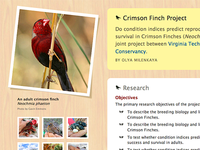 Crimson Finch Project
