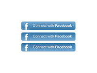 Facebook Connect button in CSS3
