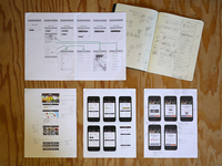 Sketches and wireframes