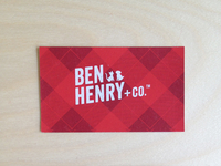 Ben Henry + Co. Business Card
