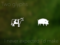Unexpected glyphs
