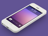 iOS 7 Lock Screen Concept