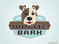 Pet Business Logo Design Wagit & Bark - UK