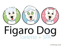 Pet Business Logo Design Figaro Dog Grooming - Lucca, Italy.