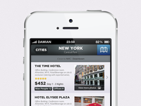 White Travel Reservation iOS App