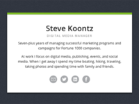 Steve Koontz Biz Card Website