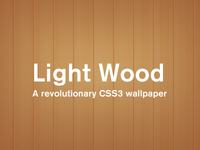 Light Wood Wall [CSS]