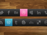 Dark Theme Social Icon Set