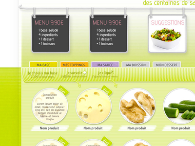 webdesign Salade E-commerce