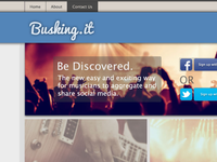 Busking.it Website design
