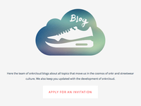 snkrcloud | oh snap...we got a blog!
