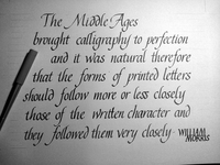 Calligraphy exercise
