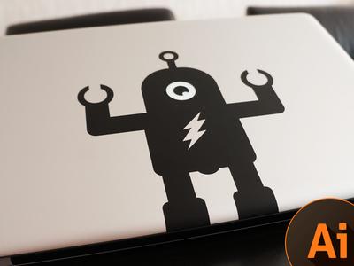 Download Macbook Pro Sticker Robot