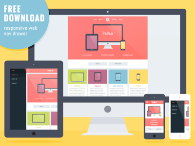 Download Responsive Layout with Navigation Drawer